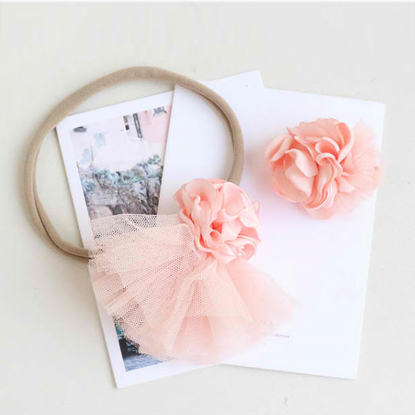 pink blossom soft baby band
