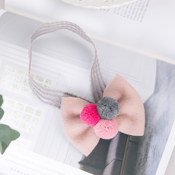 pompom ribbon baby band