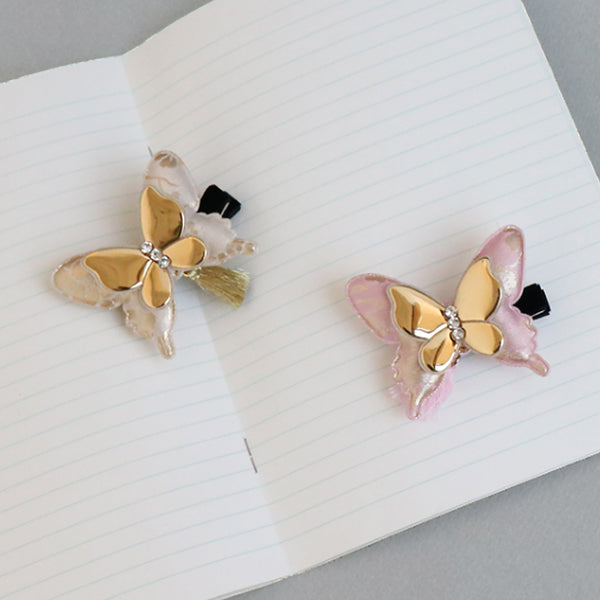 princess wing butterfly non-slip grip pin (2 colours)