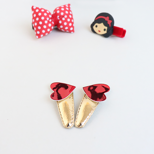 red princess nonslip & pin clipset