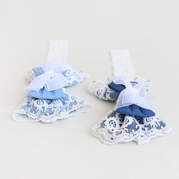 salon lace ribbon baby band (2 colours)