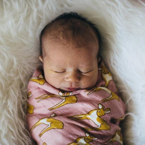 Organic Cotton Muslin Swaddle in Fawn