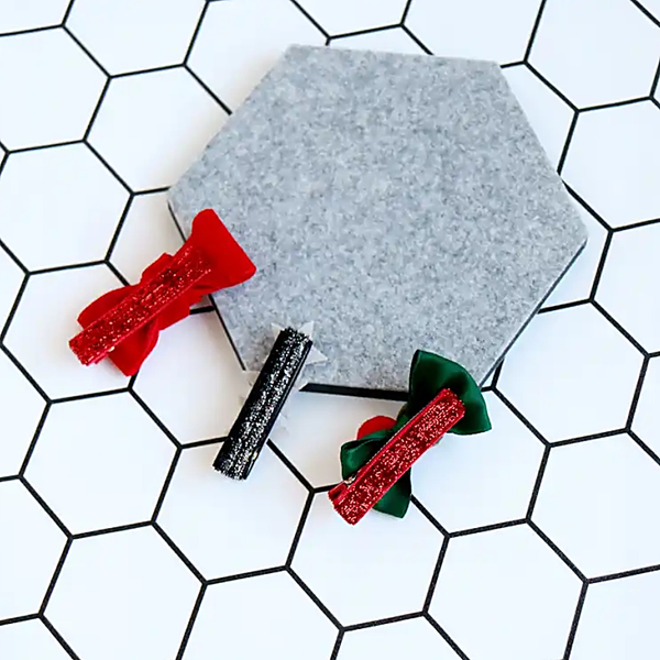 santa girl ribbon non-slip tongs pin set