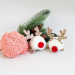 red nose glitter antler clip (2 colours)