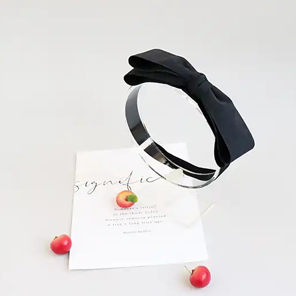 elegant black ribbon soft baby band