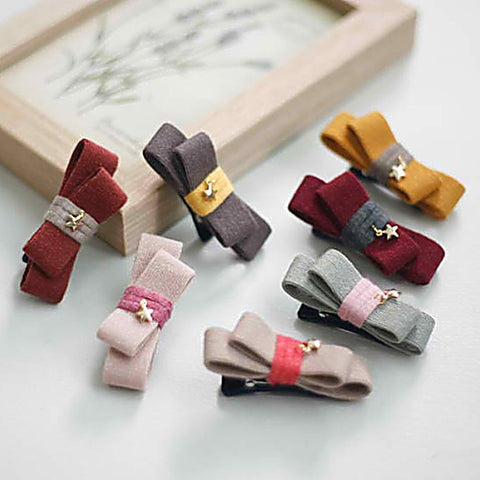 baby cleo ribbon non-slip tongs pin (7 colours)