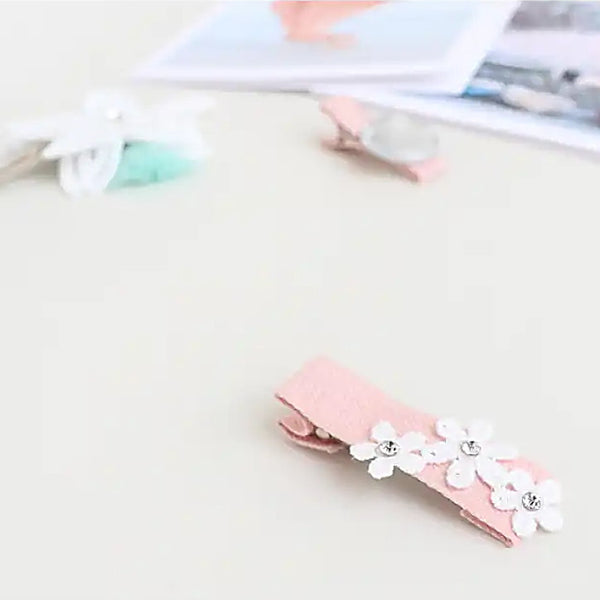 pink and white nipper & non-slip & tick pin set