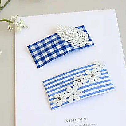 blue spring tick pin set