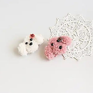 flower poodle pong pin (2 colours)