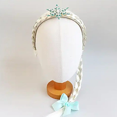 snow crystal braided headband