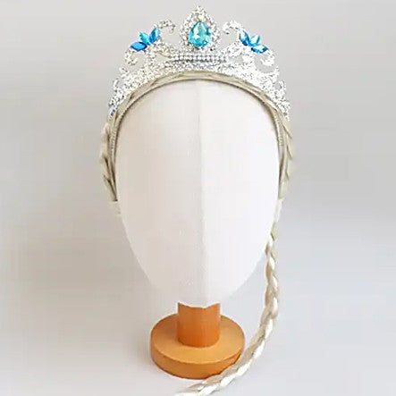 snow princess tiara braided headband