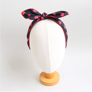 love cau wire ribbon headband (5 colours)