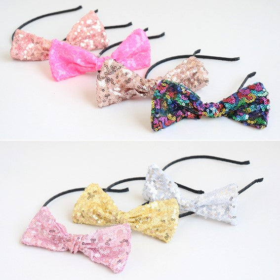 simple ribbon sequined headband (7 colours)