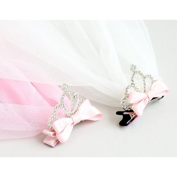charming veil tiara clamp pin (2 colours)