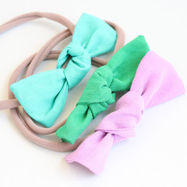 simple linen ribbon soft baby band (11 colours)