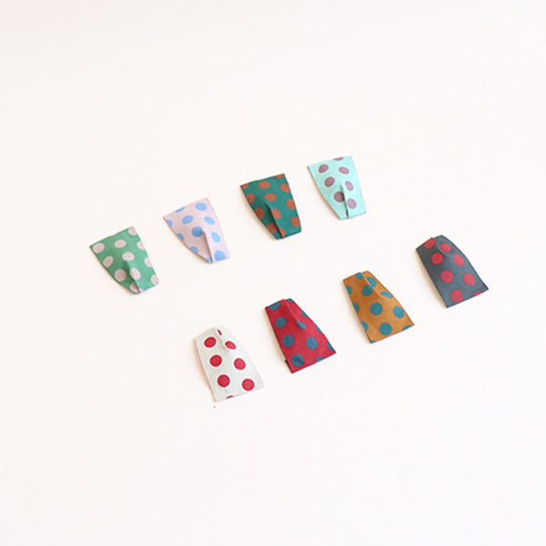 retro dot twisted tick pin (8 colours) | a pair of