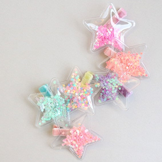 star sparkling non-slip tong pin (6 colours)