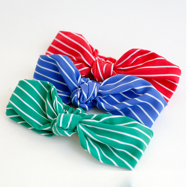 strawberry striped baby band (3 colours)