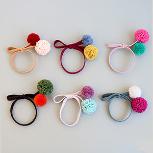 petite blossom ribbon hair tie (6 colours)