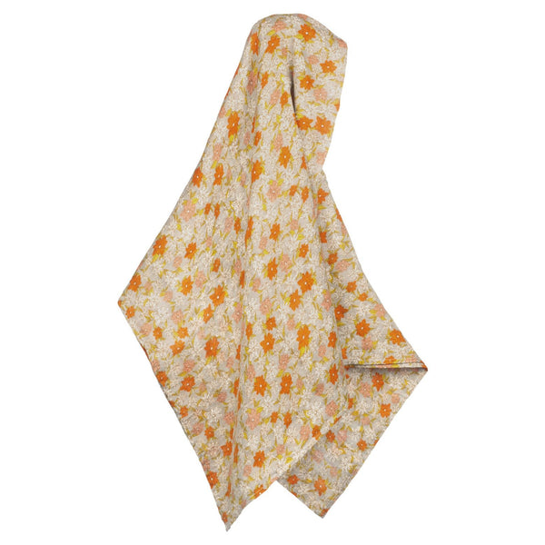 Bamboo + Cotton Muslin Swaddle in Grey Floral