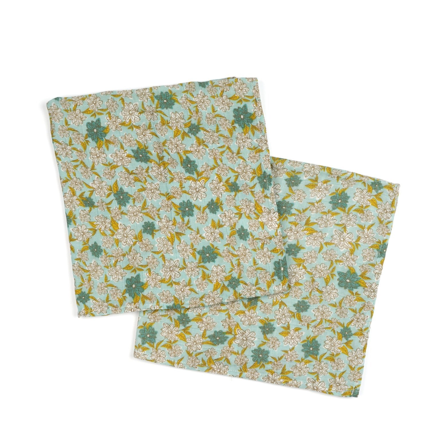 Bamboo + Cotton Bundle of Burpies in Blue Floral