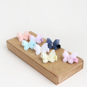 butterfly  pearl non-slip grip pin (7 colours)