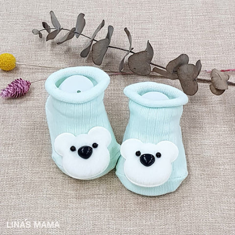 organic baby booties for newborn to 12 months - cuddle bear
