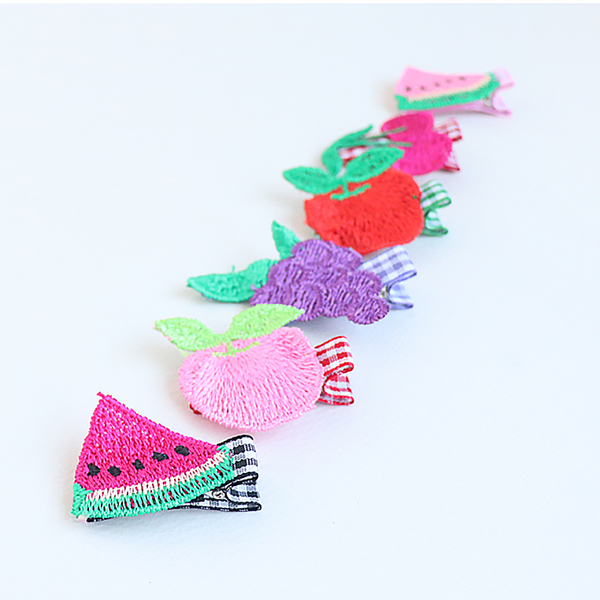 embroidery fruit shop non-slip grip pin (6 designs)