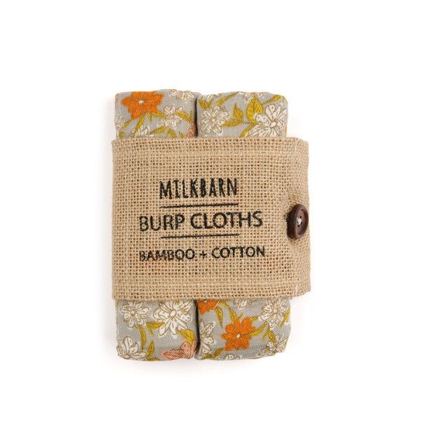 Bamboo + Cotton Bundle of Burpies in Grey Floral