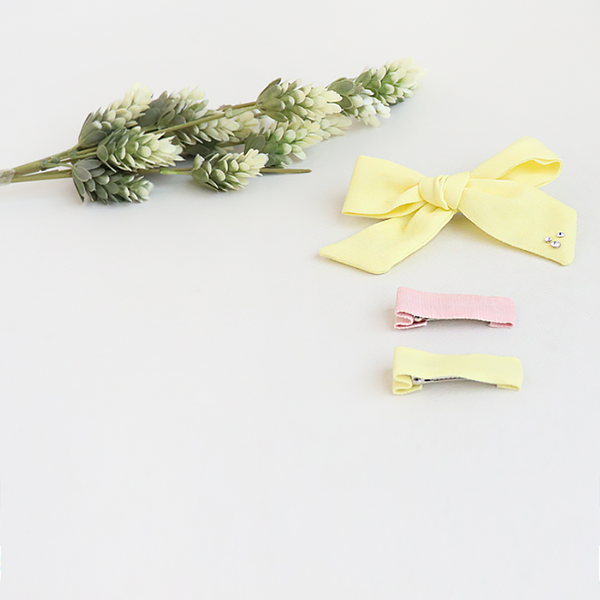 lemon yellow forceps clipset
