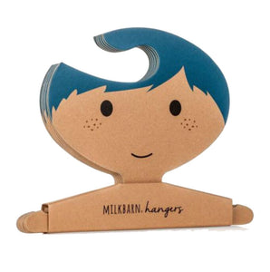 Clothes Hanger Set in Blue Hair Boy
