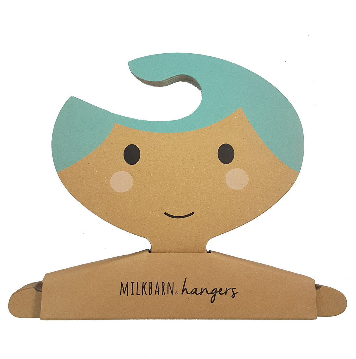Clothes Hanger Set in Blue Hair Girl