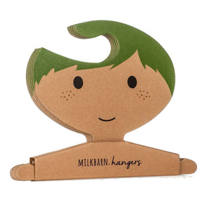 Clothes Hanger Set in Green Hair Boy