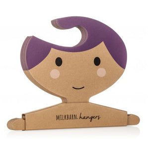 Clothes Hanger Set in Purple Hair Girl