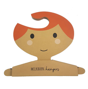 Clothes Hanger Set in Red Hair Girl