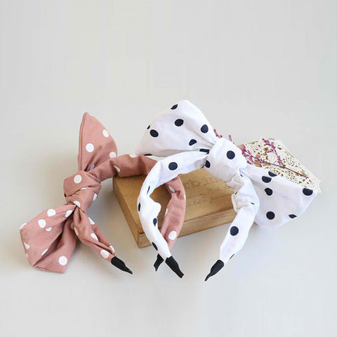 monochrome ribbon ribbon headband (2 colours)