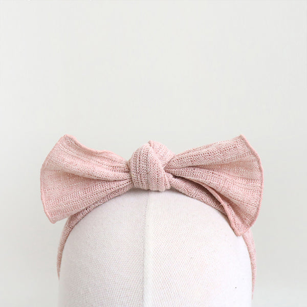 net ribbon knit ribbon baby band (3 colours)