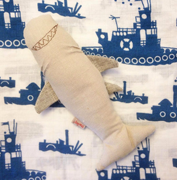 Organic Cotton Muslin Swaddle in Tugboat