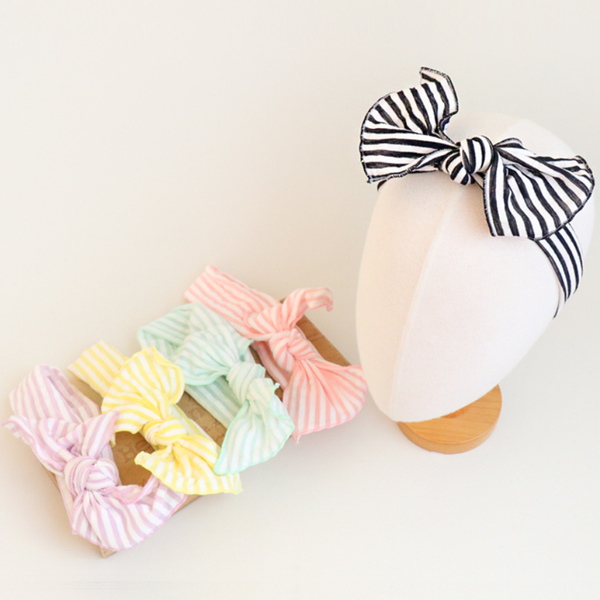 pastel striped baby band (5 colours)