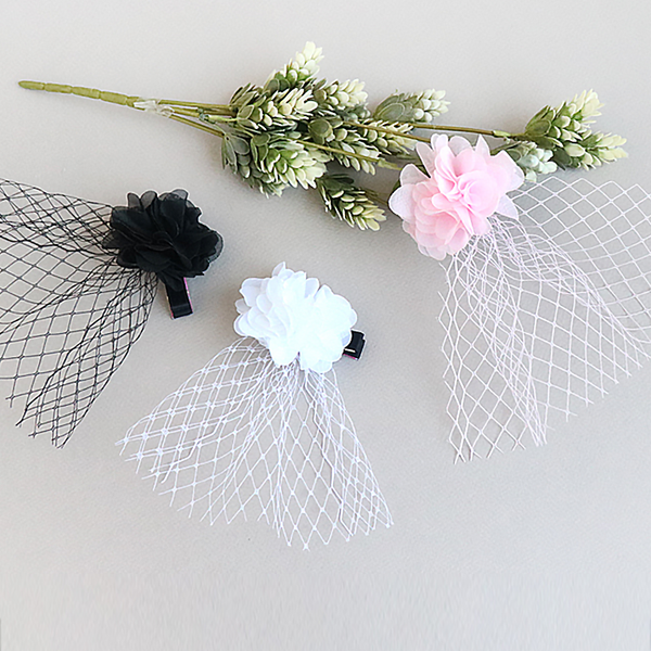 flower mesh clip (3 colours)