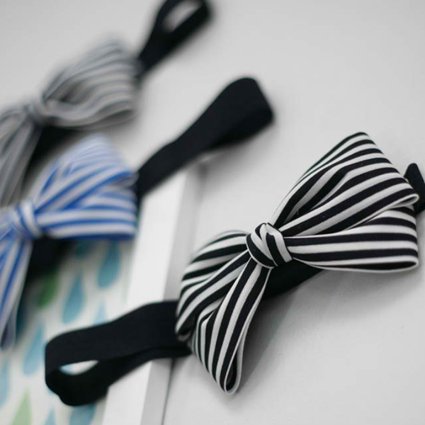 striped ribbon baby band (3 colours)