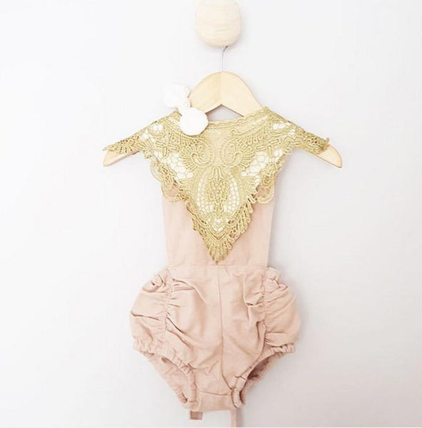 Gold Lace Luxe Bib
