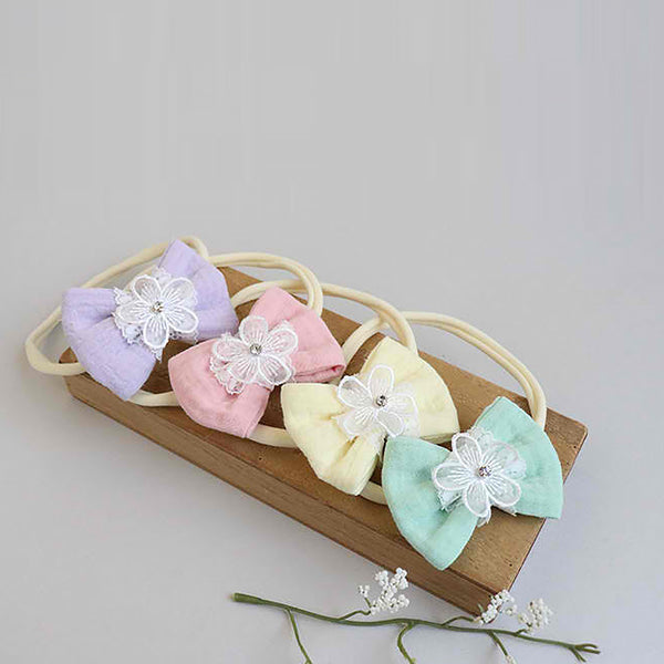 flower lace ribbon soft baby band