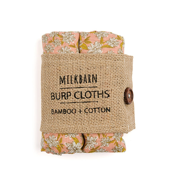 Bamboo + Cotton Bundle of Burpies in Rose Floral