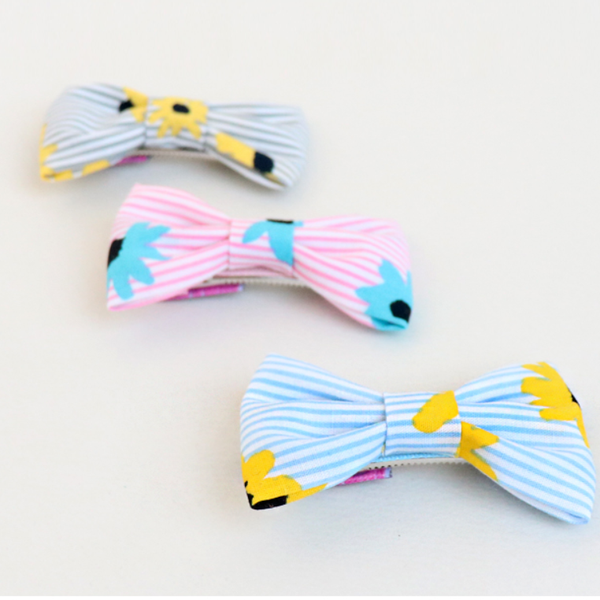 striped flower tongs clip (3 colours)