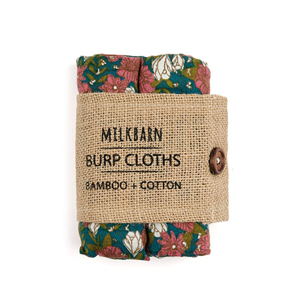 Bamboo + Cotton Bundle of Burpies in Teal Floral