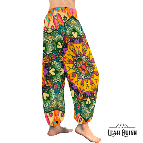 Harem Pants For Lounging, Exercising and in Being You. by Leah Quinn Design