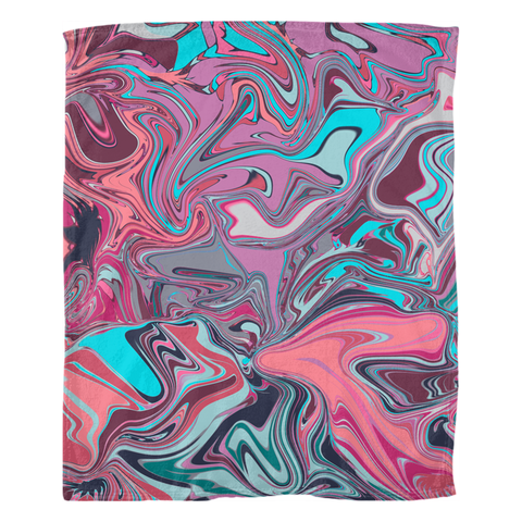 Pop Marble Fleece Blankets by Leah Quinn