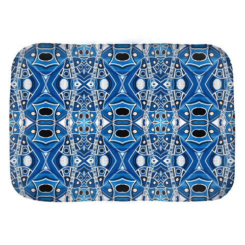 Tangled up in Denim Bath Mats by Leah Quinn Design