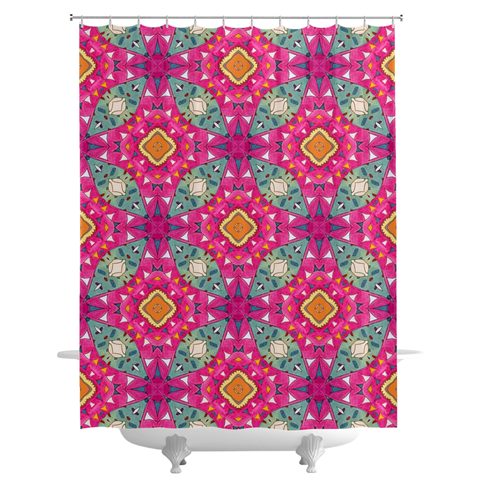 'Samantha' Shower Curtains by Leah Quinn Design